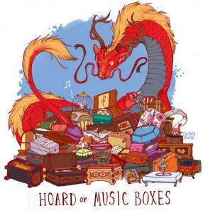дракон и музыкальные шкатулки