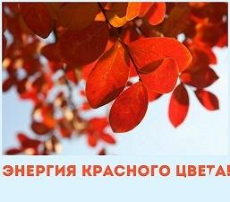 Энергия красного цвета.